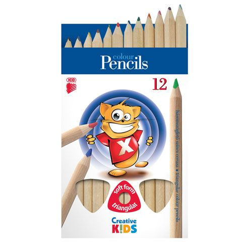 cacc8b17a Farbičky ICO Creative Kids trojhranné jumbo 12ks/bal ...