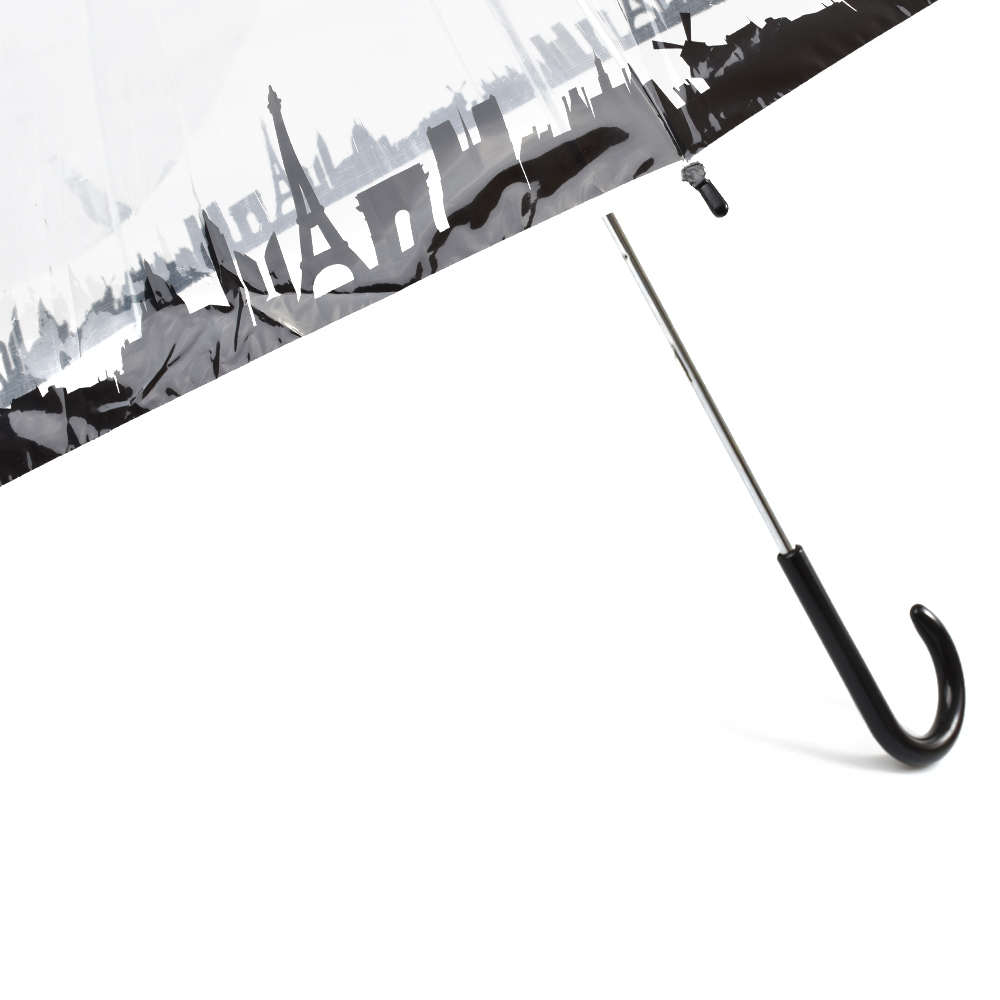 Dáždnik priesvitný s potlačou mesta 61 1936. Skladacie ... 770502a76c3